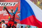 Finále závodu světové série horských kol ve fourcrossu, JBC 4X Revelations, proběhlo 15. července v bikeparku v Jablonci nad Nisou. Na snímku je vítěz domácího závodu a zároveň celé letošní série, Tomáš Slavík.