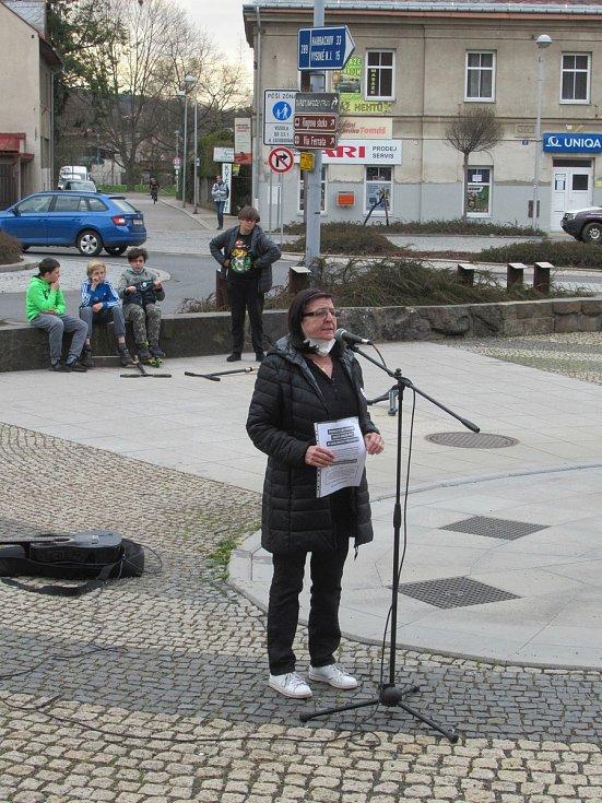 Demonstrace v Semilech