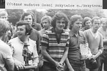 Fotbalové legendy. 13. - 15. 7. 1974 proběhl na hřišti v Rokytnici nad Jizerou 3. turnaj rokytnických družstev.