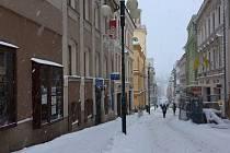 Lidická ulice v Jablonci nad Nisou.