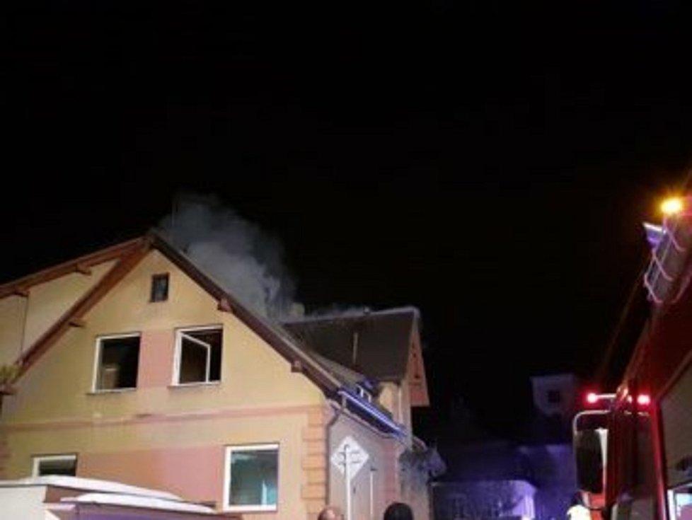 Požár v Jablonci nad Nisou.
