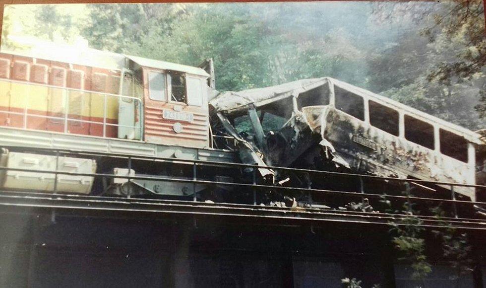 Železniční nehoda u Spálova.