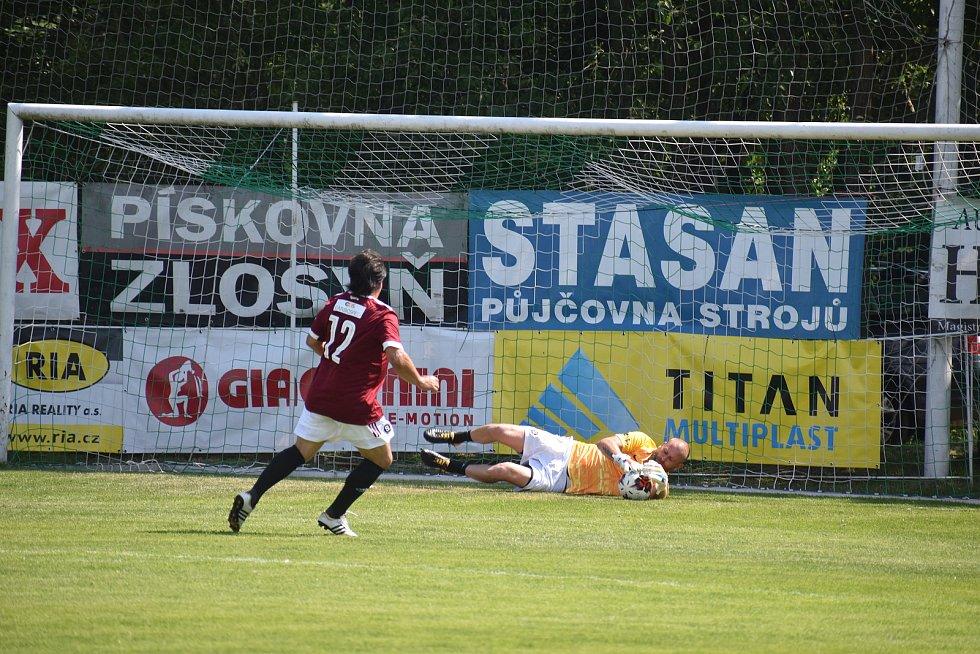 exhibice fotbalu na Pěnčíně