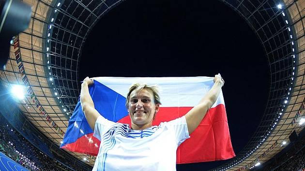 Barbora Špotáková se na MS v Berlíně stala jedinou českou medailistkou.