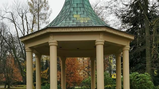 Pavilon v Tyršově parku