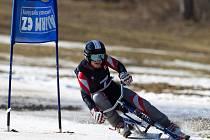 Kamenec hostil finále Světového poháru v jízdě na skibobech. Na snímku je vítězka Alena Housová (Sokol Jablonec n. J.).