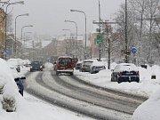 Zima v ulicích Jablonce
