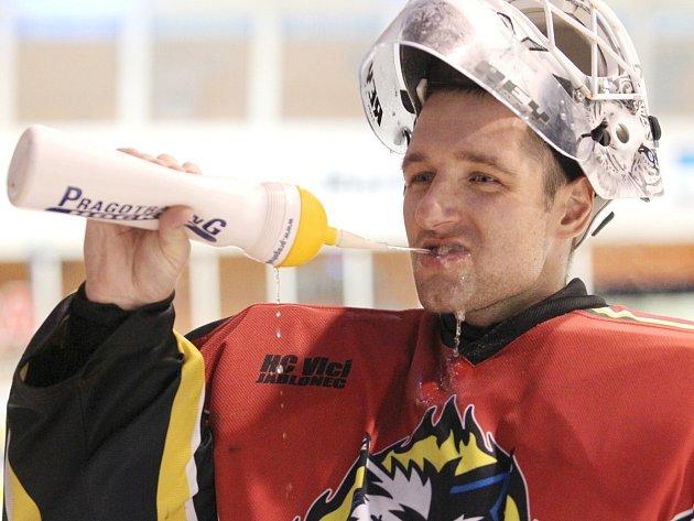 Jiří Stejskal, brankář a opora hokejového A týmu HC Vlci Jablonec nad Nisou.