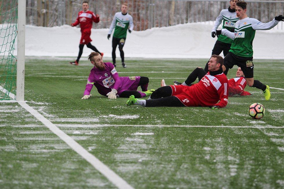 První přípravný zápas týmu Mšeno A si hráči dali s juniorkou FK Jablonec.