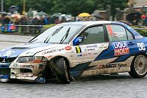 Rally Bohemia 2011 - neděle 3. července - RZ 15 (Malá Skála - Sychrov). Semerád Martin - Ernst Michal (CZE) - Mitsubishi Lancer Evo IX.