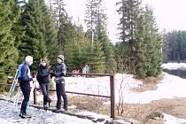 Jizerská magistrála v úseku Nová louka - Blatenský rybník.