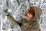 V noci z úterý na středu zasypal první letošní sníh už celé Jablonecko.