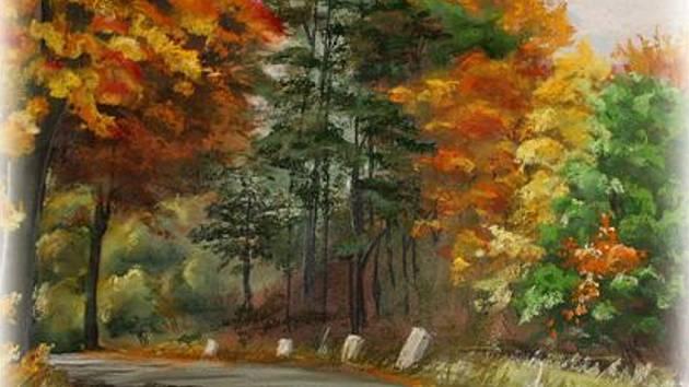 Cesty naším krajem, pastely Dagmar Loumové.