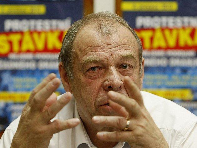 Předseda Českomoravské konfederace odborových svazů (ČMKOS) Jaroslav Zavadil.