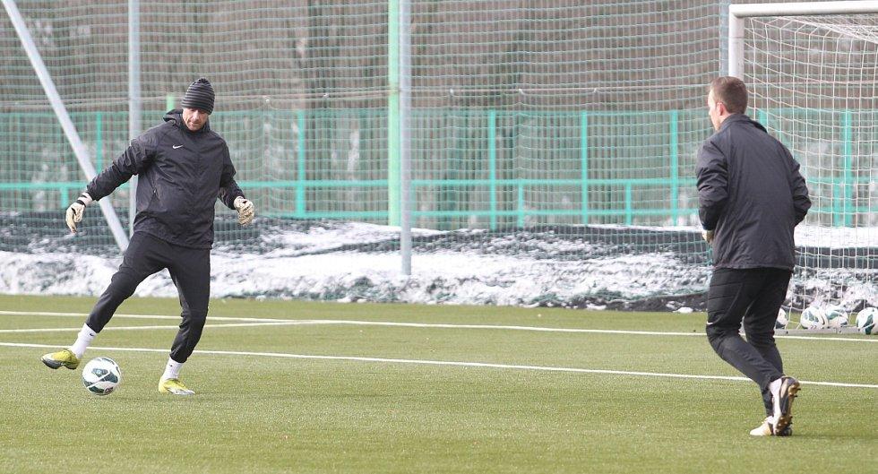 Fotbalisté Jablonce zahájili ve středu zimní přípravu. Na snímku Michal Špit (vlevo) a Vilém Fendrich.