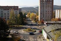 Ilustrační foto kruhové křižovatky v Jablonci n. N.
