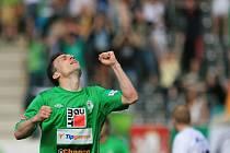 Jablonec porazil Hradec 2:0 díky dvěma zásahům Davida Lafaty.