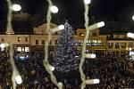 Rozsvěcení vánočního stromu v Jablonci