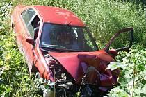 Řidič Peugeotu 406 do cíle vlastní vinou nedojel.