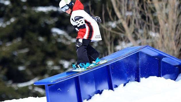 Ze snowparku Rejdice. Zima ale loňská