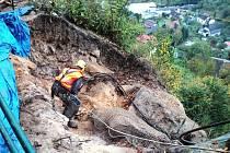 Zajišťování nebezpečných kamenů.