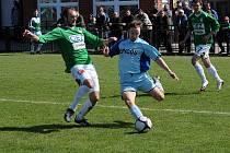 HLAVICE NEUSPĚLA. V ČFL zvítězil Jablonec B nad Hlavicí 1:0. Na snímku jeden z útočných pokusů hlavického týmu.