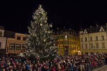 Rozsvícení vánočního stromu v Jablonci