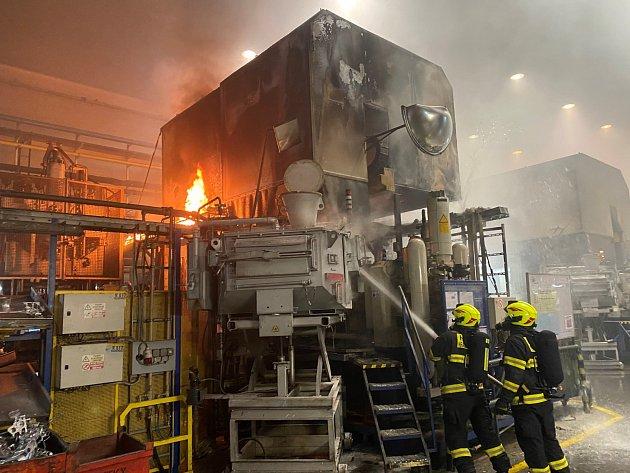 Požár licího stroje vHrádku nad Nisou