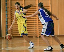 V sobotu sice děvčata porazila poslední Prosek, ale v neděli lídr soutěže vyhrál 35:79.