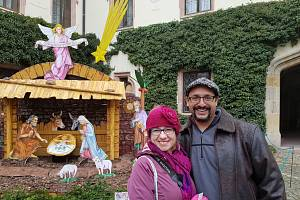 Lucie Chavez Pešatová s manželem Oscarem se o adventu podívala i na Státní zámek Sychrov.