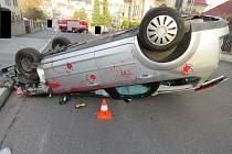 Dopravní nehoda v Jablonci nad Nisou.