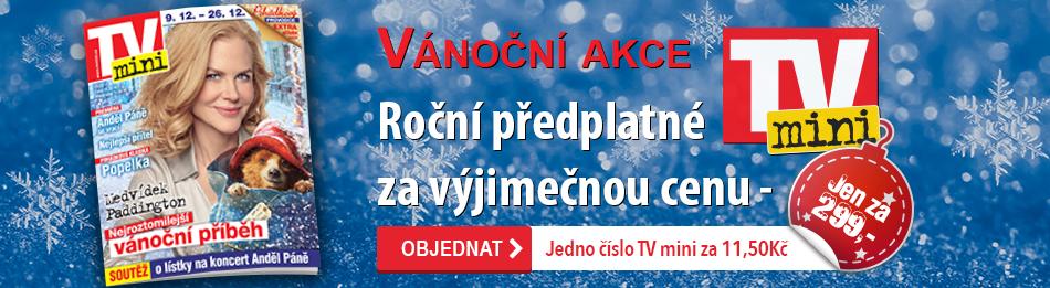 Vánoční akce - Roční předplatné TV mini za výjimečnou cenu