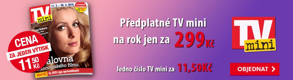 Předplatné TV mini na rok jen za 299 Kč