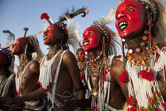 Wodaabe dance at Gerewol festival in northern Niger