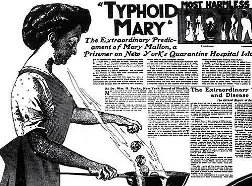 Tyfová Mary byla chodící biologická zbraň, která musela žít v domácím vězení