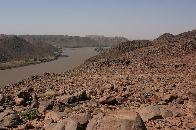 Kaňon Nilu v pohoří Sabaloka, výzkumy ČEgÚ.