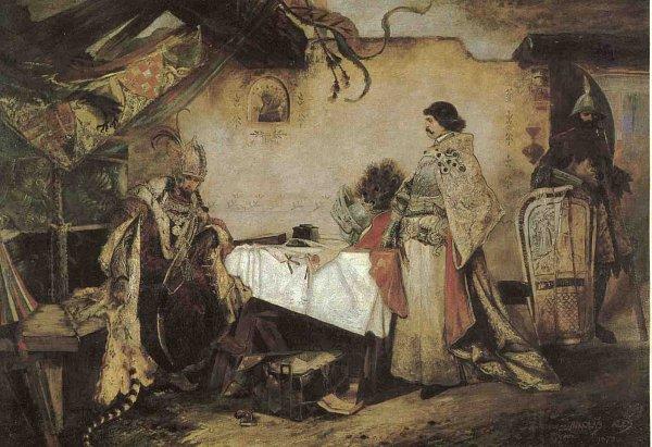 Jiří zPoděbrad sice Matyáše Korvína, svého zetě, zajal a dohodl smír, uherský král se přesto nechal zvolit českým vzdorkrálem.