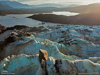 Ledovec Mendenhall na Aljašce