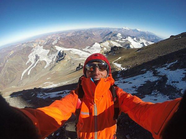 Selfie při aklimatizačním výstupu