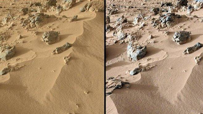 Půda na Marsu se podobá sopečnému písku z Havaje, zjistila sonda Curiosity