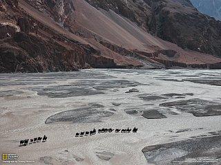 Překročení řeky Shaksgam