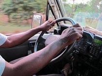 Paul Sefoi z města Bo v Sierra Leone pracuje pro Lékaře bez hranic už přes 15 let. V současnosti je řidičem sanitky svážející pacienty do referenčního centra v Gondamě. (Foto © Niklas Bergstrand/MSF)