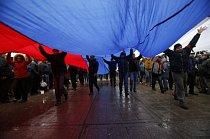Protesty na Ukrajině proti ruskému prezidentovi Putinovi