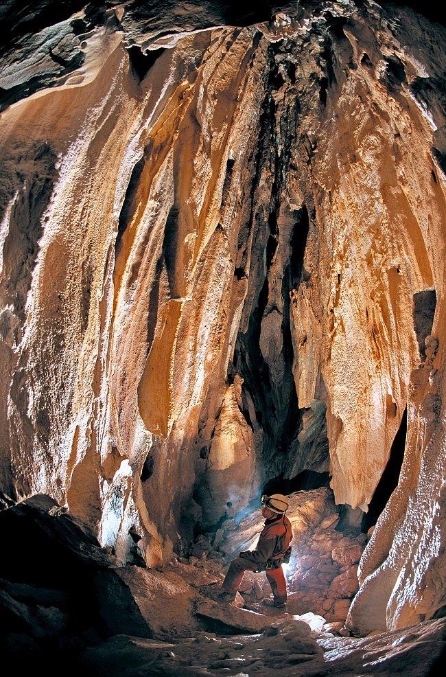 Nepřístupná část jeskyní pro veřejnost.