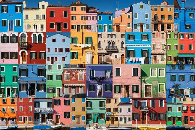 A na závěr oživení v podobě domů, které připomínají malířskou paletu.