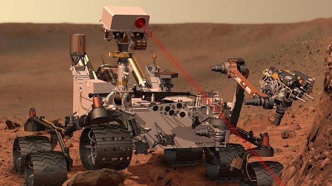 Laser proti skále. Curiosity začala na Marsu zkoumat minerály