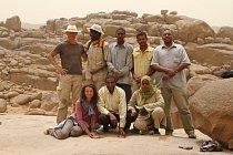Lokalita Sfinga po ukončení výzkumu unikátního pohřebiště v roce 2012, pohoří Sabaloka, výzkumy ČEgÚ