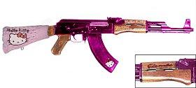 Hello Kitty kalašnikov opravdu střílí. Vyrobil ho americký nadšenec do zbraní.