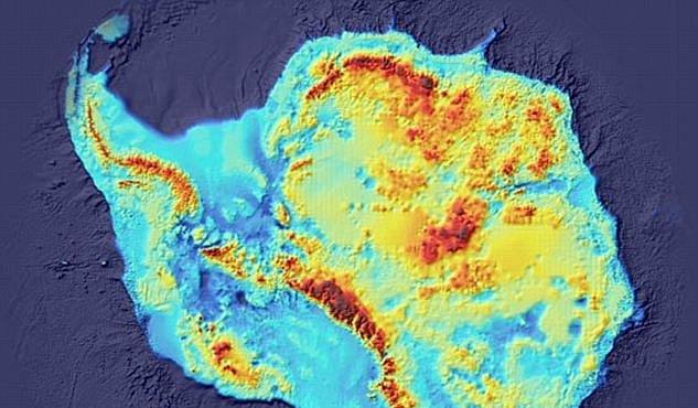 Nahá Antarktida: na odhalené mapě vypadá jako hlava nosorožce