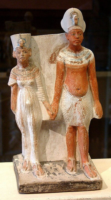 Malé sousoší Achnatona s Nefertiti
